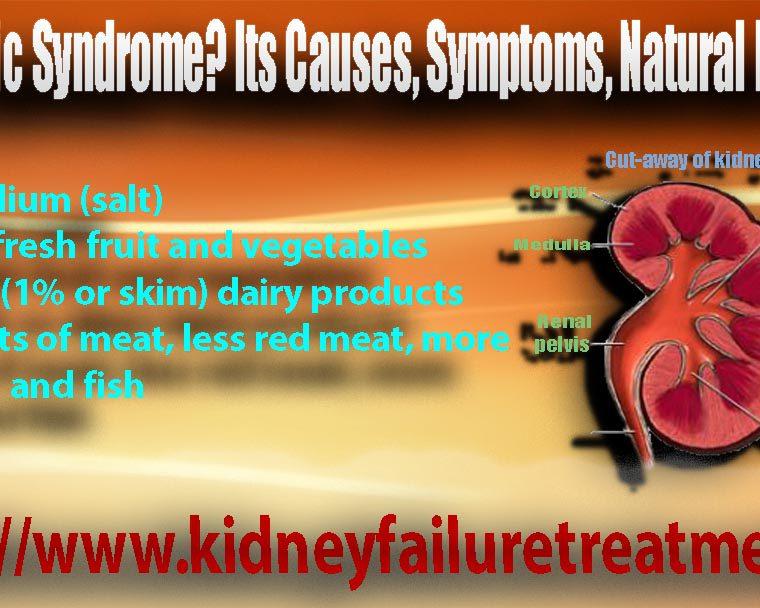 Nephrotic syndrome diet